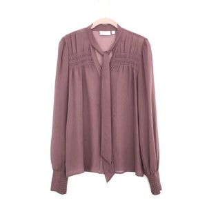 New! Hinge silk button down top